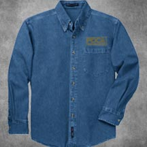 PDCA Men's Embroidered Heavyweight Denim Shirt