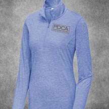 PDCA Ladies Embroidered Sport-Tek Tri-Blend Wicking 1/4 Zip Pullovers - IN SIX COLORS