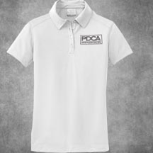 PDCA Ladies Embroidered Nike Dri-Fit Four Button Pebble Texture Polo - IN SIX COLORS