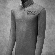 PDCA Men's Quarter Zip Long Sleeve Pullover - IN TWO COLORS