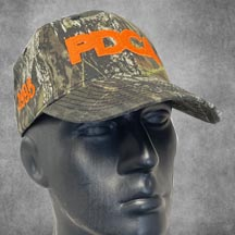 PDCA Camo Hat Hunter Orange