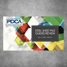 PDCA Steel Sheet Pile Guides Webinar